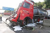 Autounfall A4 Gestern
